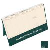 TOPTIMER Jegyzettömbös, krém (Chamois) lapos, álló asztali naptár C051, Zöld