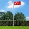 Török zászló alumíniumrúddal 6,2 m