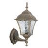 Toscana kültéri oldalfali lámpa, álló (E27) antik arany