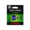 Toshiba Memóriakártya, Micro SDHC, 8GB, Class 4, adapterrel, TOSHIBA