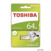 "Toshiba Pendrive, 64GB, USB 2.0, fém ház, TOSHIBA ""U401"""