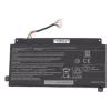Toshiba Satellite P55W series 3860 mAh 50Wh 3 cella fekete notebook/laptop akku/akkumulátor utángyártott