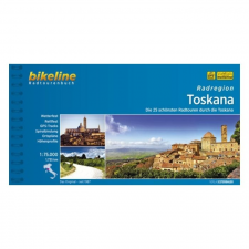 Toszkána kerékpáros útikalauz / Radregion Toscana térkép