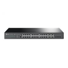 TP-Link NET TP-LINK T2500-28TC JetStream 24-Port 10/100Mbps + 4-Port Gigabit L2 Managed Switch szerver
