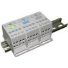 Tracon Electric Fővezetéki leágazó sorkapocs, sínre szerelhető, szürke - 1x35mm2 / 9x4mm2, 400V, 125A FLS354X9 - Tracon