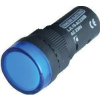 Tracon Electric LED-es jelzőlámpa, kék - 24V AC/DC, d=16mm LJL16-BC - Tracon