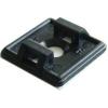 Tracon Electric Öntapadós/csavarozható, 2oldalt fűzhető kötegelő talp,fekete - 19x19mm, d=4,7mm, PA6.6 TALP191-2 - Tracon