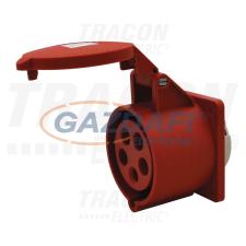 TRACON TICS-425 Beépíthető egyenes ipari csatlakozóaljzat 32A, 400V, 3P+N+E, 6h, IP44 villanyszerelés