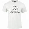 Tréfás póló 40 éves, Készült 1977... (XXXL)