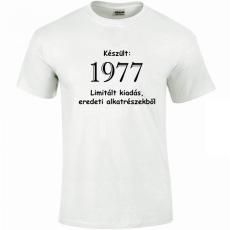 Tréfás póló 40 éves, Készült 1978... (L)