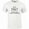 Tréfás póló 50 éves, Készült 1967... (XXL)