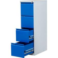 Trent egysoros fém A4-es irattartó szekrény, 4 fiók, kék irattartó