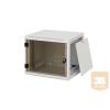 """TRITON RUA-06-AS6 6U magas 19""""-os 595mm mély fali rack szekrény, levehető és zárható oldalfalakkal"""