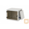 """TRITON RUA-12-AS6 12U magas 19""""-os 595mm mély fali rack szekrény, levehető és zárható oldalfalakkal"""