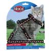 TRIXIE hám+póráz cica műanyag csatos, mintás