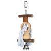 Trixie Játék madárnak fa kiegészítők és kötél csengővel, 20cm