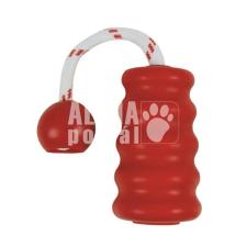 Trixie Játék tömör gumi harang kötéllel 9cm játék kutyáknak