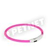 Trixie SaferLife Flash USB nyakkarika rózsaszín M-L 45cm