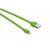 Trust 20138 Flat Micro-USB kábel 1m lime
