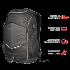 """Trust Gamer Notebook hátizsák 23240, GXT 1255 Outlaw Gaming Backpack for 15.6"""" laptops - black hátizsák"""