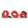TUBADZINcsempékpadlólapok Tubadzin Pop Red Fürdőszoba dekor 59,3x16,25