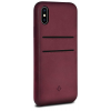 Twelve South Relaxed Leather Case with Pockets for iPhone X bordó
