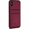 Twelve South Relaxed Leather Clip bőr tok iPhone X - piros