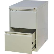 Tyne egysoros fém A4-es irattartó szekrény, 2 fiók, szÜrke irattartó