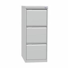 Tyne egysoros fém A4-es irattartó szekrény, 3 fiók, kék/szÜrke irattartó