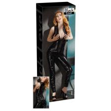 Ujjatlan, cipzáros lakk overall (fekete) női pulóver, kardigán
