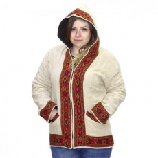 uniszex vastag indiai kabát indiából 4 színben L Krémszín