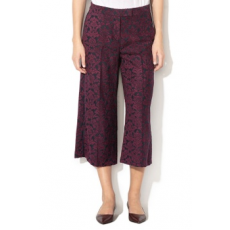 United Colors of Benetton , Jacquard culotte nadrág, Bordó, 44 (4DV8557L5-901-44)