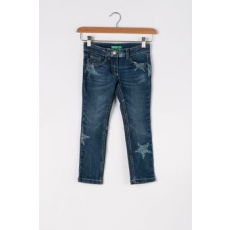 United Colors of Benetton , Skinny fit farmernadrág csillagos mintával, kék, 160 CM Standard (4DPU57H80-80Q-EL-XXL)