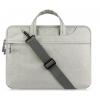 """Univerzális laptop táska, 15""""-os készülékhez, hosszú oldal zseb, vállpánttal, Iralan, szürke"""
