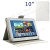 """UNIVERZÁLIS notesz / mappa tablet PC tok - FEHÉR - álló, bõr, mágneses, asztali tartó funkciós, 10"""" készülékekhez - 150-175 - 240-267 mm-ig állítható befogó keret"""