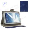 """UNIVERZÁLIS notesz / mappa tablet PC tok - KÉK - álló, bõr, mágneses, asztali tartó funkciós, 8"""" készülékekhez - 120-160 - 180-220 mm-ig állítható befogó keret"""