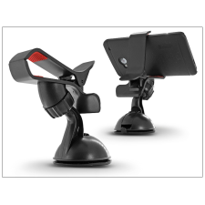 Univerzális PDA/GSM autós tartó - csipeszes - fekete/piros mobiltelefon kellék