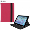 """Univerzális TabletPC tok, mappa tok, 8""""-os készülékekhez, nanopadszerű rögzítés, Blautel 4-OK, rózsaszín/fekete"""