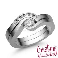 Úristen, házasodunk! E204FZF_B - FEHÉR ZAFÍR - GYÉMÁNT KÖVES Eljegyzési gyűrű gyűrű