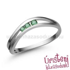 Úristen, házasodunk! E329FS - SMARAGD Eljegyzési gyűrű gyűrű