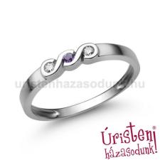 Úristen, házasodunk! E338FM_C - AMETISZT - CIRKÓNIA KÖVES Eljegyzési gyűrű gyűrű