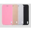USAMS Apple iPhone 6 Plus oldalra nyíló bőr tok, alu hátlappal, USAMS Sailing, rózsaszín