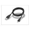 USB - micro USB adat- és töltőkábel 100 cm-es vezetékkel - fekete