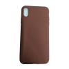utángyártott Apple iPhone X/Xs pasztell hátlap tok, barna