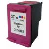 utángyártott HP CH564EE, 301 XL (color, színes) prémium kategóriájú utángyártott tintapatron, patron