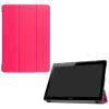 utángyártott Huawei Mediapad T3 10 LTE - Tok álló, bõr (FLIP, oldalra nyíló, TRIFOLD asztali tartó funkció) RÓZSASZÍN