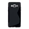 utángyártott Samsung A500 Galaxy A5 szilikon tok S-line, fekete