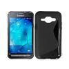 utángyártott Samsung G388F Galaxy Xcover 3 szilikon tok S-line, fekete