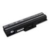 utángyártott Sony Vaio VGN-FW170JH, VGN-FW17T/H fekete Laptop akkumulátor - 4400mAh