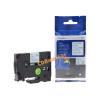 Utángyártott szalag Brother TZ-233 / TZe-233, 12mm x 8m, kék nyomtatás / fehér alapon